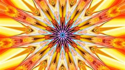 Orange Colors Abstract Yellow Kaleidoscope Artistic 1600