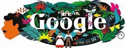 Google Doodles Logos Birthday Gabriel Garcia 91st