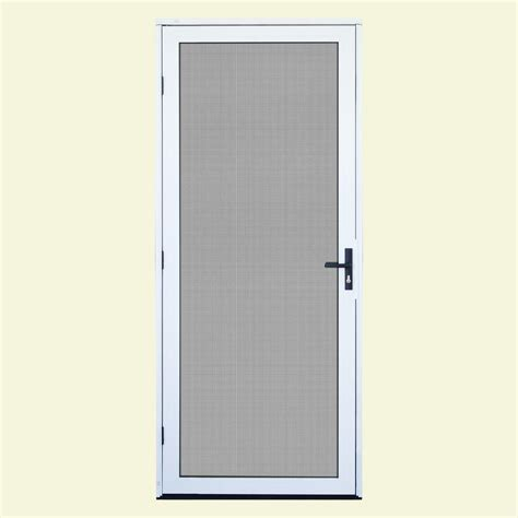 screen door 32 x 80 unique home designs 32 in x 80 in white surface mount
