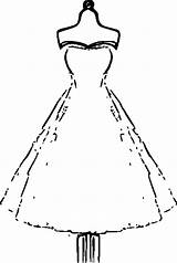 Coloring Adults Clothes Printable Paper Dresses Colouring Gown Hubpages Adult Dolls Clip sketch template