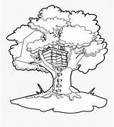 Magic Tree Coloring Clipart Clip Treehouse Sheet Clipartkey Clipground sketch template