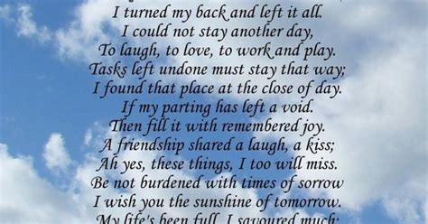 im  memorial poem birthday mothers day funeral