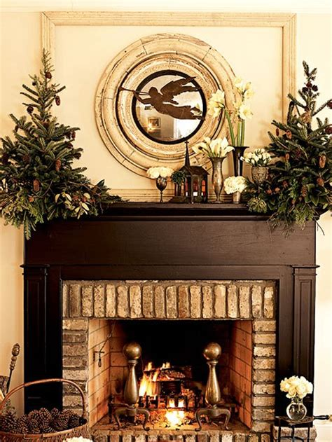 beautiful christmas decor with fireplaces ornament