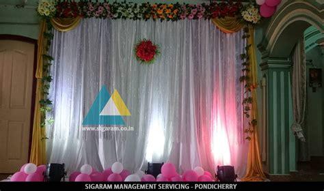 simple backdrop decoration  kathani vizha function