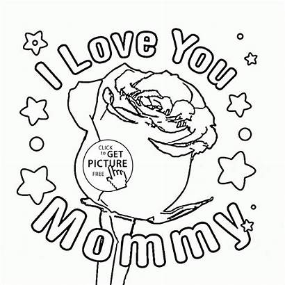 Coloring Pages Mothers Mommy Drawing Mother Printable