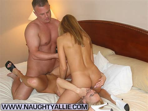 Blonde Wife Naughty Allie Enlists A Girlfriend For A