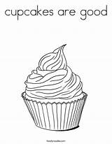 Coloring Cupcakes Cupcake Pages Built California Usa Print Twistynoodle sketch template