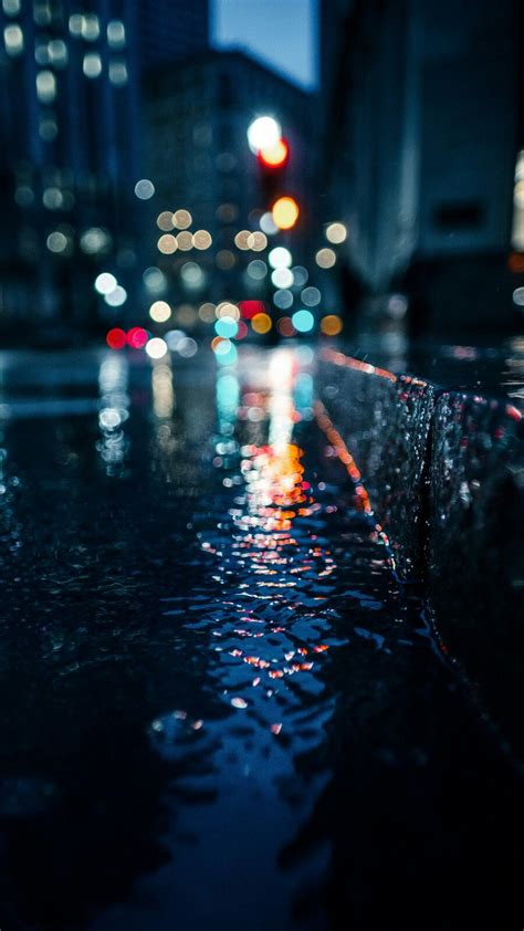 wallpaper  android  iphone rain city light