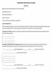 resume templates 127 free samples examples format With free resume templates for teachers to download