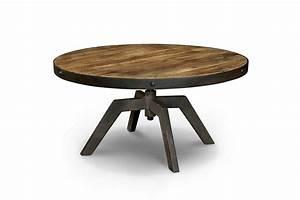 Table Basse Ronde Industrielle : table basse industrielle en bois et m tal tb03 rose moore ~ Teatrodelosmanantiales.com Idées de Décoration