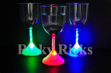 12 Pcs Light-up Wine Glasses Led Flashing Acrylic Blinking