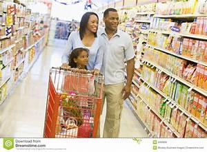 Family Shopping In Supermarket Stock Photo - Image: 5094660