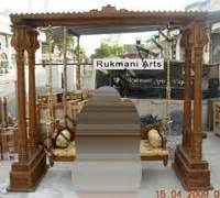 code  buy carved indian maharaja wooden swings wooden