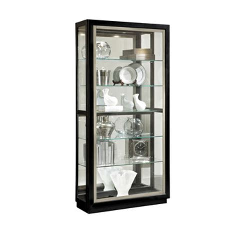Pulaski Curio Display Cabinet In Black Granite by Sliding Door Curio Cabinet In Black Closeout By Pulaski