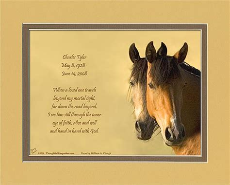 horse quotes loss sympathy poems lovers quotesgram condolences inspirational western