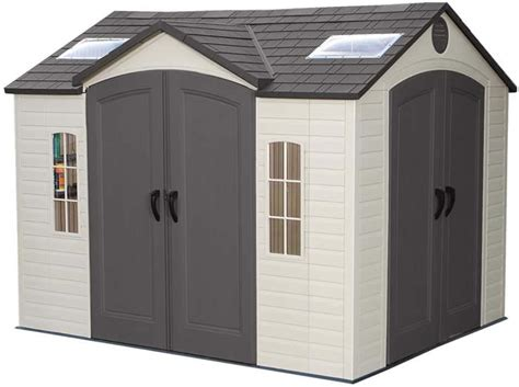 lifetime 15x8 plastic shed lifetime 10x8 backyard storage shed w doors