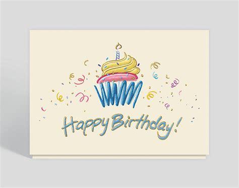birthday cupcake doodle card  business christmas