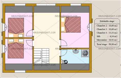 plan maison 100m2 3 chambres prix maison bois 4 chambres