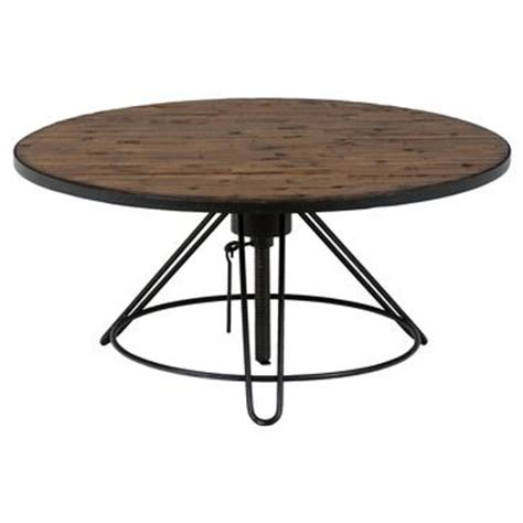 Distressed Wood Cocktail Table The Round Table Has An