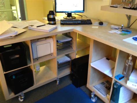 Borgsj Corner Desk Hack by Corner Standing Desks Ikea Hackers Ikea