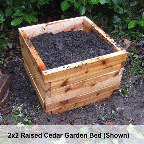 cedar raised garden bed kit cedar raised bed garden kits 2 x3