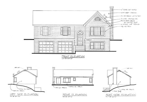 elevation of house plan the portsmouth 6283 3 bedrooms and 2 5 baths the house