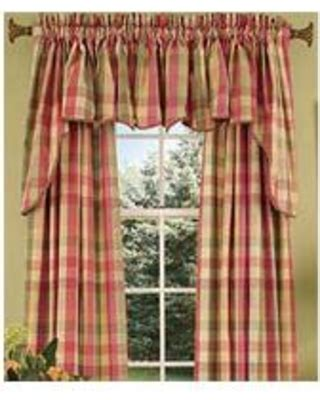 amazing deal on country curtains moire plaid princess swag