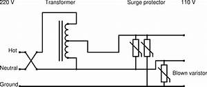 never use a surge protector with a step down transformer With surge protection circuit diagram surge protection for surge protector