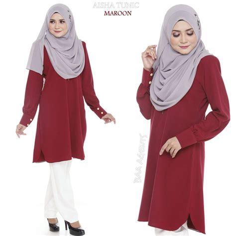 baju muslimah tunic blouse aisha tunic ii mesra penyusuan saeeda collections