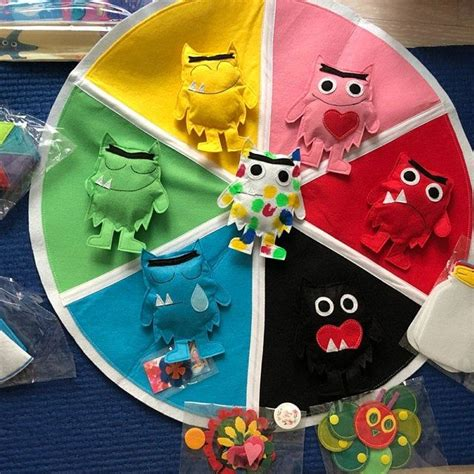 colour monster emotions jar game activity game