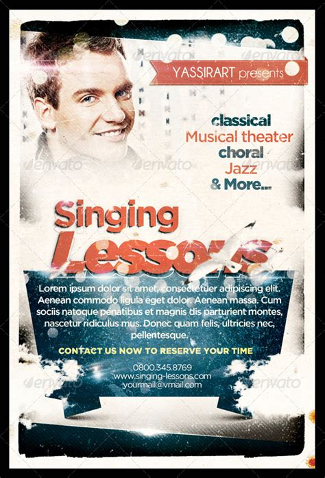 singing lessons flyer template  yassirart graphicriver