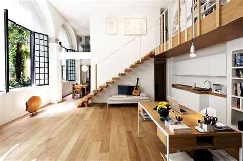 open plan house open plan living stairs t house in sant ambrogio milan