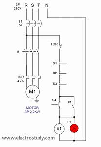 Wiring Diagram 3 Phase Motor 2 2 Kw With Stop Series