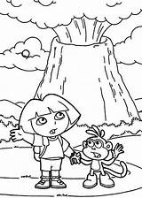 Volcano Coloring Dora Pages Erupting Volcanoes Colouring Volcanos Netart Trending Days Last sketch template