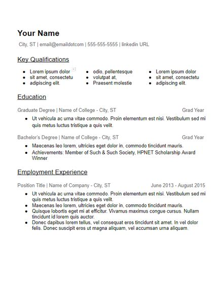 Educational Resume Template by Skills Based Resume Templates Free To