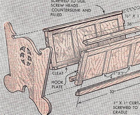woodworking plan pattern baby infant dutch cradle crib