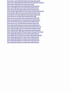 Nissan Qashqai 2008 2012 Service Repair Manual Pdf Download