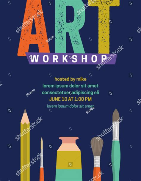 workshop flyer designs templates psd ai word