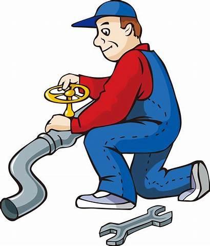 Clipart Plumbing Pipe Water Repairman Cartoon Transparent