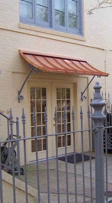 concave copper awning supports simple clean copper awning canopy outdoor