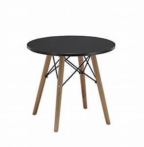 Beistelltisch Schwarz Holz : beistelltisch couchtisch schwarz rund holz tisch retro design nachttisch duhome 0175 retro stuhl ~ Orissabook.com Haus und Dekorationen