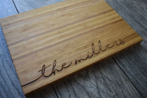 Personalized Cutting Board Wedding Gift Engraved Cutting
