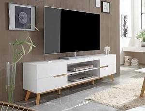 Tv Board Weiß Eiche : lowboard celio 1 wei eiche 169x56x40 cm tv board tv m bel schrank kaufen bei vbbv gmbh co kg ~ Buech-reservation.com Haus und Dekorationen