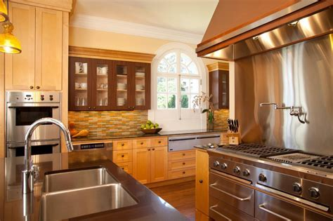 Contemporary Kitchen with Commercial Range Hood   HGTV