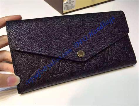louis vuitton sarah wallet  black monogram empreinte leather