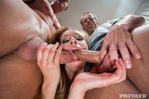 Private – Irina Bruni Gets Double Penetration and a Hot Double Facial | spicysolos