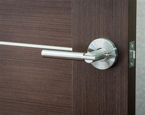 Brass Door Handle Lock Sinn By Kleis Design Hannes