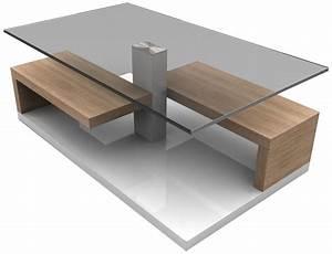 Table Basse Blanche Et Verre : table basse design bois et verre table basse verre ovale maison boncolac ~ Teatrodelosmanantiales.com Idées de Décoration