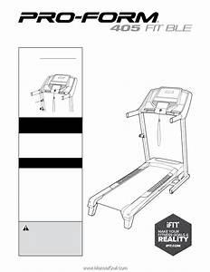 Proform 405 Fit Ble Treadmill