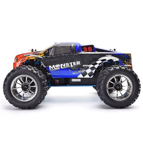 nitro rc monster trucks hsp rc truck 1 10 scale models nitro gas power off road